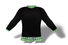 Mens Mesh Sweater and Shirt Combo Blue