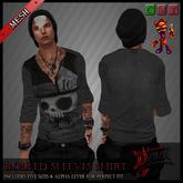..::Drunk Devil ::..~ Mad Hatter ~ MESH Sleeves Shirt
