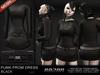 =Razorblade Jacket= Punk Prom Dress /// Black w/ Hud