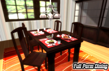 {XO} Full Perm Dining Set ~ Furniture Food & Drink