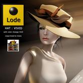 *LODE* Hat - VIVID [beige]
