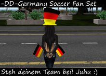 Two Germany Flags and a hat