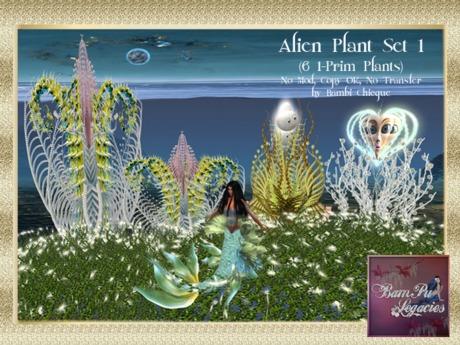 Mermaid Cave ALIEN PLANT SET 1