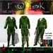 Urban Male Mesh Hoodie & Pants w/Boots Green - FOLK