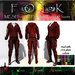 Urban Male Mesh Hoodie & Pants w/Boots Red - FOLK