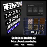 ScriptlessBoxInfoV2Combo - *0.000ms* - One prim price & permission display