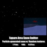 Square Area Snow Emitter *0.025ms*