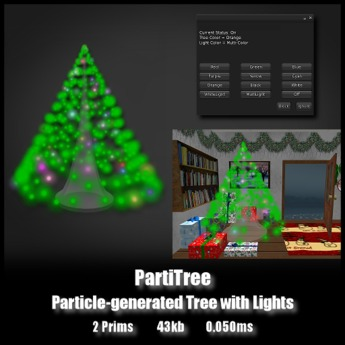 PartiTree - *0.050ms* - Particle Generated Tree with Lights
