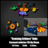 Cruising Critters Ride *0.160ms* Carousel Vehicles Tilt Up Down