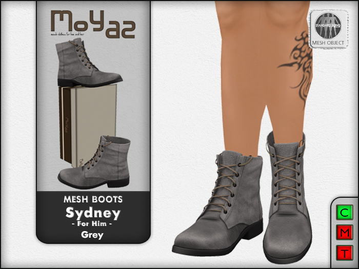 Sydney Mesh desert boots - Grey