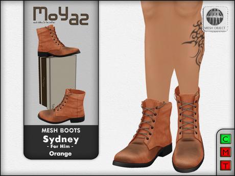 Sydney Mesh desert boots - Orange
