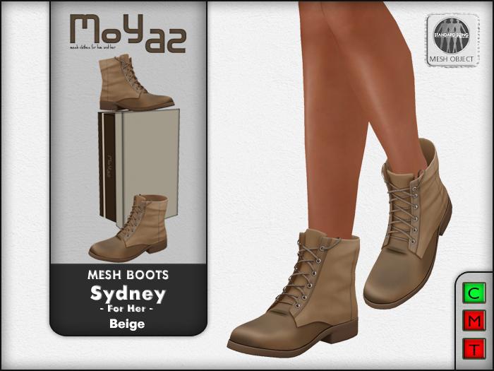 Sydney Mesh desert boots - Beige - for her