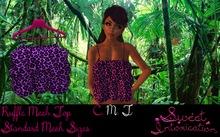 ::Sweet Intoxication:: Mesh Ruffle Top - Purple Leopard