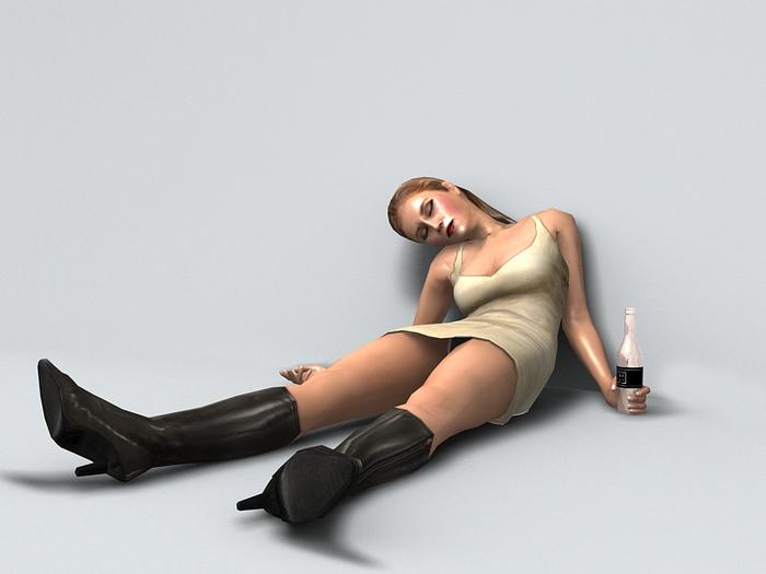 Drunk Girl 3 - (Only COPY) 13 prim