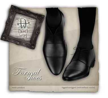 [Deadwool] Formal shoes - mesh - black