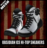 FK! - Obsidian Ice Hi-top Sneakers