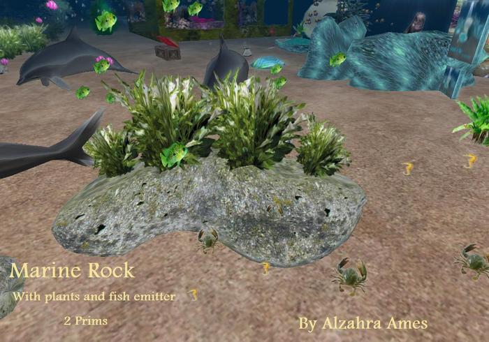 Marine Rock with plants and fish emitter (boxed)