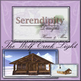 Serendipity Designs - Wolf Creek Light Cabin