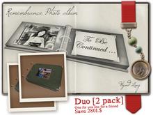 -W-[ Photo Album DUO ] Remembrance Album 2 PACK (mod/trans)