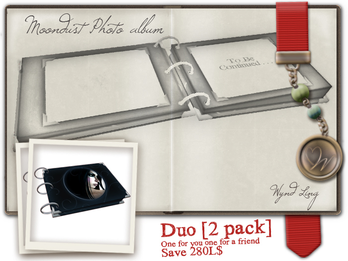 -W-[ Photo Album DUO ] Moondust 2 PACK (mod/trans)