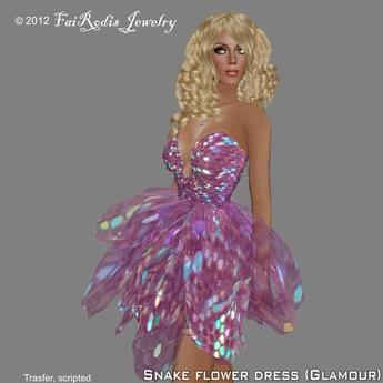FaiRodis Snake Flower Dress Glamour