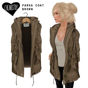 (Chemistry) Parka Coat - Brown