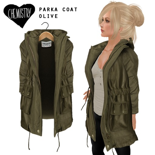 (Chemistry) Parka Coat - Olive