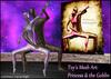 """Mesh Art : """" Princess & the Goblin """" - statue sculpture ballet dancing lovers mesh 3D art embrace"""