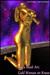 "Mesh Art : "" GOLD WOMAN on KNEES "" - statue sculpture mesh 3D art female body form figure abstract"