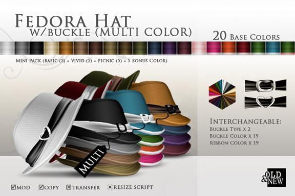 (O&N) Fedora Hat Buckle (Multi Color Series)