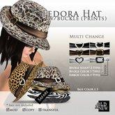 (O&N) Fedora Hat Buckle (Safari)