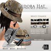 (O&N) Fedora Hat Buckle (Reptile)