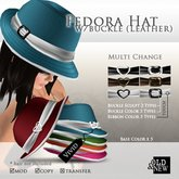 (O&N) Fedora Hat Buckle (Vivid)