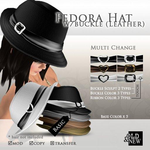 (O&N) Fedora Hat Buckle (Basic)