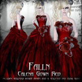 Falln Calena Gown Red