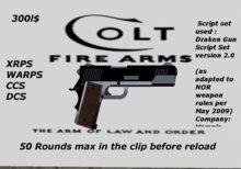 Colt 45 Black gun
