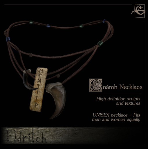 .Eldritch. Cnámh Necklace