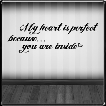 *~LT~* Heart is Perfect Wall Art Decal