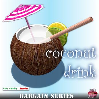 FANCY COCONUT DRINK * Copy & Modify * FOOD & DRINKS - BARGAIN SERIES