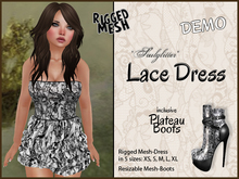 DEMO *Soulglitter* MESH Lace Outfit - Dress & Boots