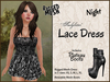 *Soulglitter* MESH Lace Outfit - Dress & Boots - Night