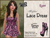 *Soulglitter* MESH Lace Outfit - Dress & Boots - Rose