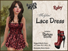 *Soulglitter* MESH Lace Outfit - Dress & Boots - Ruby