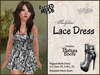 *Soulglitter* MESH Lace Outfit - Dress & Boots - White