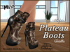 *Soulglitter* Mesh Plateau Boots - Giraffe