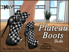 *Soulglitter* Mesh Plateau Boots - Skulls