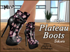 *Soulglitter* Mesh Plateau Boots - Sakura