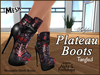 *Soulglitter* Mesh Plateau Boots - Tangled