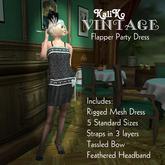 KaliKo Vintage - Flapper Party Dress Black - Rigged Mesh
