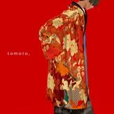 tomoto, haori men's koibana red